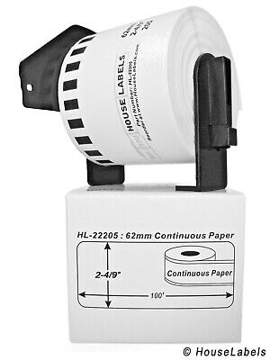24 rolls of DK-2205 Brother-Compatible Labels with 1 Reusable Cartridge