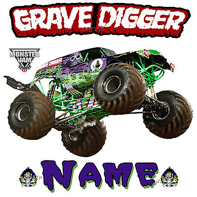 New Grave Digger Monster Truck JAM SHOW Personalized  T Shirt Birthday Present