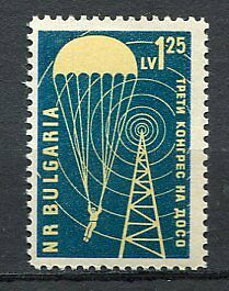 37660) BULGARIA 1959 MNH** Defence Voluntary - Parachute 1v