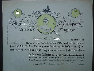 Fashion Company (Vogue Magazine) signed by founders - New York 1895