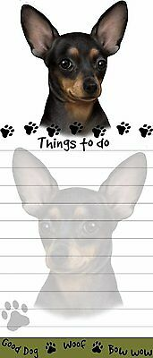 CHIHUAHUA BLACK & TAN Die Cut List Pad/Note Pad with Magnetic Back