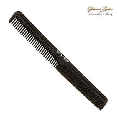 Cutting Comb Head Jog 201 - Black, Salon use, College and Home Hair Dressing