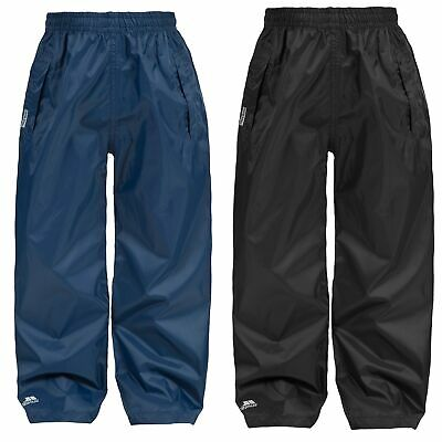 Trespass Packup Kids Packaway Waterproof Trousers Girls Boys Breathable Trousers