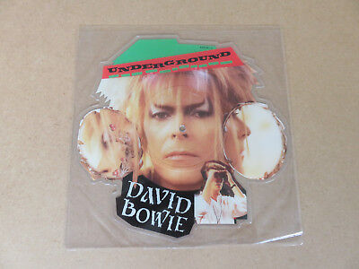 DAVID BOWIE Underground VERY RARE ORIGINAL UK 1986 SHAPED PICTURE DISC