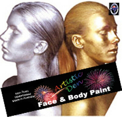 Gold Face Paint Silver Face Paint Gold face And Body Paint Face Paint 250ml
