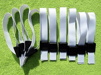 10 x Blank Fabric Wristbands with Clik Clips for Sublimation or Vinyl Print,20mm