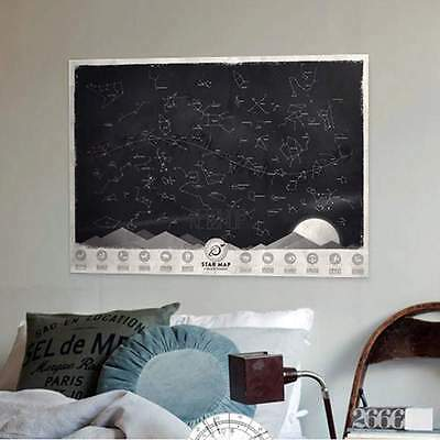 The Dark Luminous Star Map Constellation Astronomy Space Poster Gift KECP