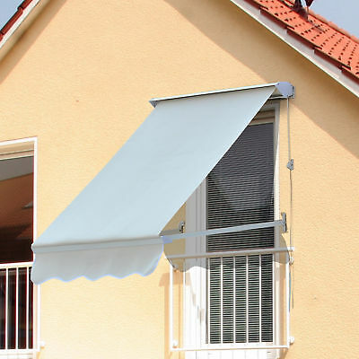 Outsunny 4' Retro Window Entry Awning Sun Shade Shelter Door Canopy Cover