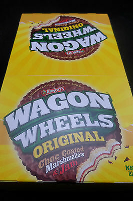 THE WHOLE BOX  ARNOTTS WAGON WHEELS 48g chocolate marshmallow jam biscuit 16 OF