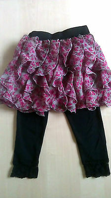 Gorgeous Girls Next Ruffle Party Skirt Age 4  & Black Lace Trim Leggings Age 5