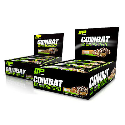 MusclePharm Combat Crunch Bars Low Sugar Protein (12 Bars) Pick Your Flavor!