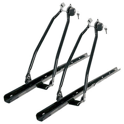 2 x UNIVERSAL LOCKABLE CAR ROOF TOP BICYCLE CARRIER RACK FOR CYCLE/BIKE LOCKING