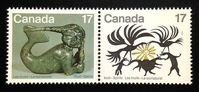 Canada #866-867a MNH, Inuit Spirits Pair of Stamps 1980