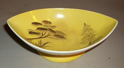 Royal Winton Grimwades Oriental Footed Candy Dish Bowl Yellow