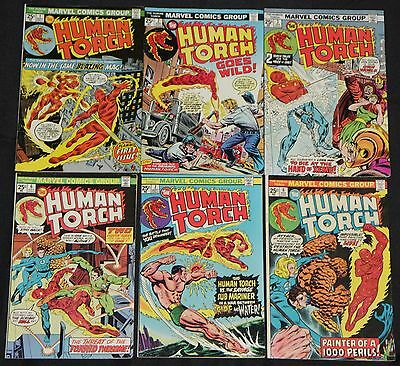 Vintage Marvel Bronze Age HUMAN TORCH 6pc Mid to High Grade Comic Lot Kirby