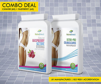 Raspberry Ketone + Colon Cleanse 120 capsules Weight Loss Slimming Diet Pills