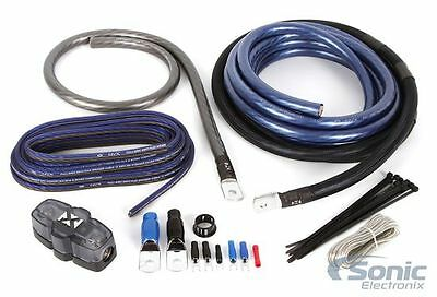 NVX XAPK0 100% Copper 1/0 AWG Gauge Single Car Amplifier Wiring Kit