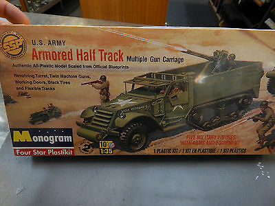 1/35 Scale Plastic Model Kit By Monogram ' Us Army Half Track'