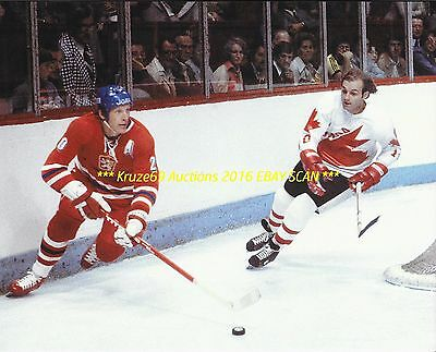 GUY LAFLEUR In ACTION vs CZECH REPUBLIC 1976 CANADA CUP 8x10 MONTREAL CANADIENS