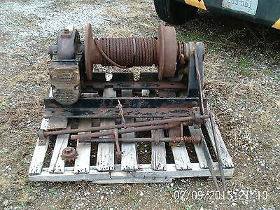 Nice 30,000lb 30K Garwood Oil Field PTO Winch COMPLETE  (Tulsa Warn Ramsey)