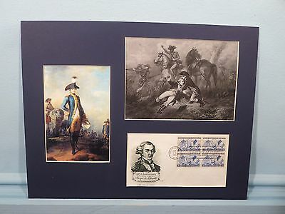 Marquis de Lafayette wounded at the Battle of Brandywine & First Day Cover