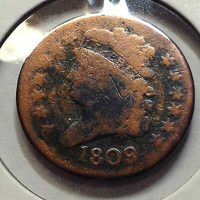1809 Capped Bust Half Cent From Old Type Coin Collection