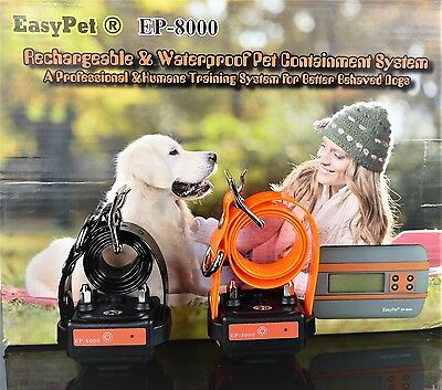 In-ground/underground Pet Containment Electronic Fence w/ Wireless 2 Dog Collars