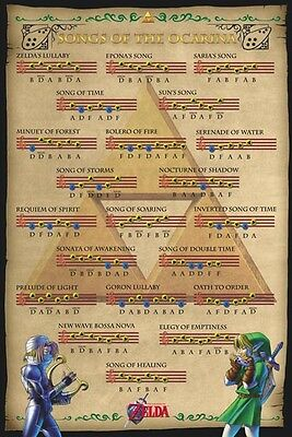 The Legend Of Zelda - Songs of the Ocarina POSTER 61x91cm NEW * music notes