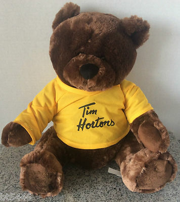 "Tim Hortons Timbits Sidney Crosby 8 16"" Yellow Jersey Stuffed Teddy Bear"