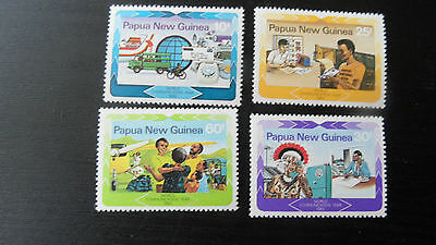 Papua New Guinea 1983 Sg 468-471 World Communications .mnh
