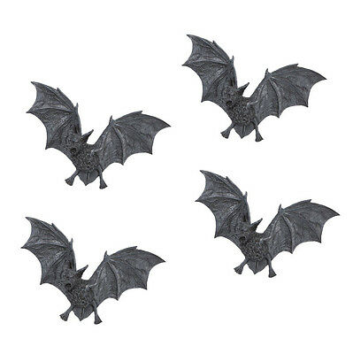 Flying Vampire Bats Statue Home Halloween Wall Decor Gothic Statuary Sculpture