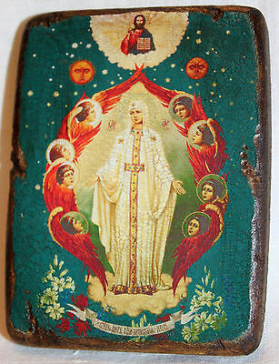 Handmade copy ancient icon ORTHODOX CHURCH ICON Our Lady Mother of God 46M