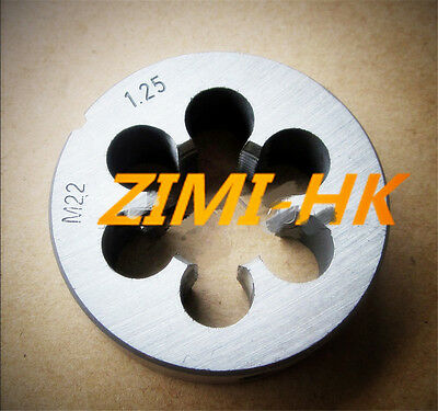 1pcs The high quality 22mm x 2.5 Metric Right hand Die M22 x 2.5mm Pitch