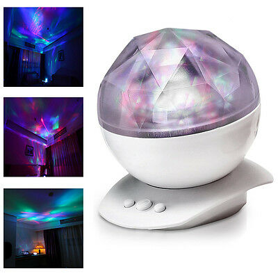 Romantic Aurora Star Colorful Changing Led Light Projector Night Lamp Speaker