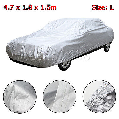 Car Cover Waterproof Outdoor Sun UV Snow Dust Rain Resistant Protection L