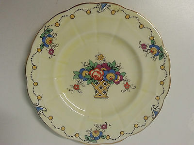 Beautiful Crown Staffordshire dish. 100% hand painted floral bouquet in vase