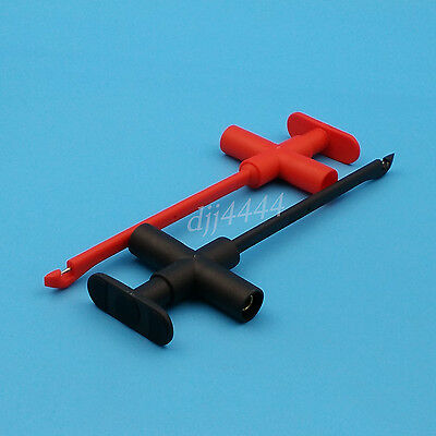 1Pair Red And Black Insulation Piercing Clip Test Probe With 4mm Banana Socket