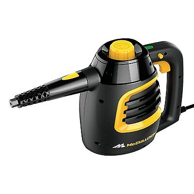 McCulloch MC1230 Handheld Steam Cleaner 6 oz. water tank heats up in 3 minutes