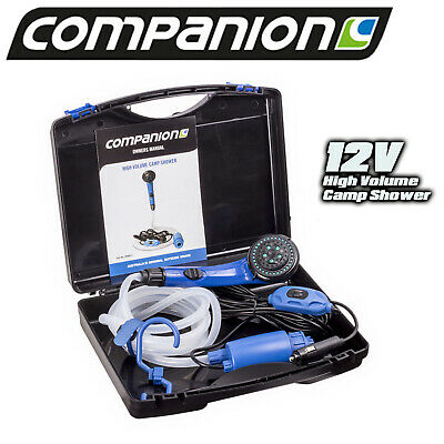 Companion 12 Volt Portable Camp Shower Caravan Tent Camping Outdoor Pri0012 New