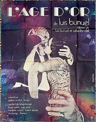 1970RR L'AGE D'OR Luis Bunuel 47x63 french film poster
