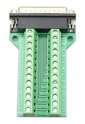 D-SUB DB25-G1 Male 25Pin Plug Breakout To PCB Board Terminals Connectors