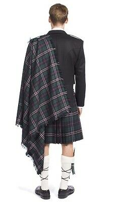 Kilt Fringed Fly Plaid 100% Wool Hand Made in Scotland Available in 14 Tartans