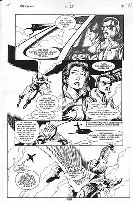 Hawkman #29 p.7 - Hawkman in Flight - 1996 art by Anthony Castrillo