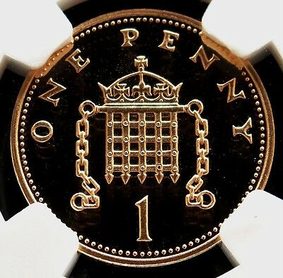 2002 Gold Great Britain Penny Golden Jubilee Coin Ngc Proof 69 Ultra Cameo