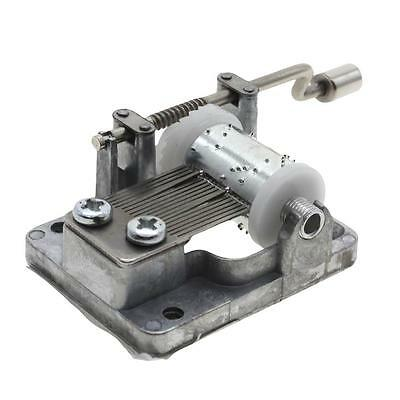 1Set Hand Crank Movements Parts Hurdy-gurdy DIY Music Box Beautiful Melody Gift
