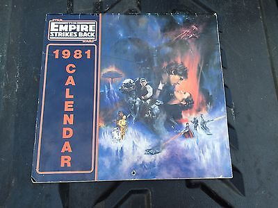 Vintage Star Wars The Empire Strikes Back 1980 Calendar  Han Solo First Edition