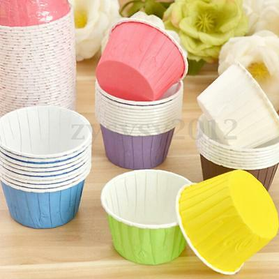 50X Paper Baking Cup Cake Cupcake Cases Liners Muffin Dessert Wedding Party UK