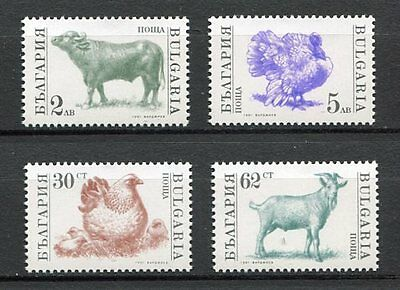 37823) BULGARIA 11.2.1991 MNH** Farm animals 4v