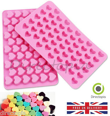 Silicone 55 Small Hearts Chocolate Sweet Cake Ice Cube Baking Fondant Clay Mould