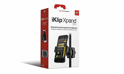 NEW IK Multimedia iKlip Xpand Mini Mic Stand holder for Smartphones